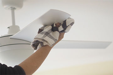 Our Glass Cleaner of boise cleaning ceiling fans