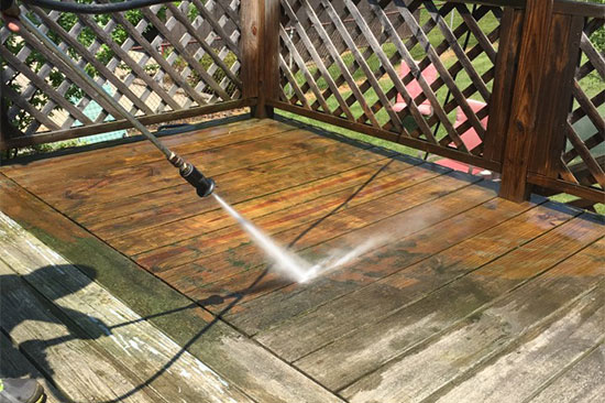 Our Glass Cleaner of Boise Idaho Pressure Washing Wood Deck