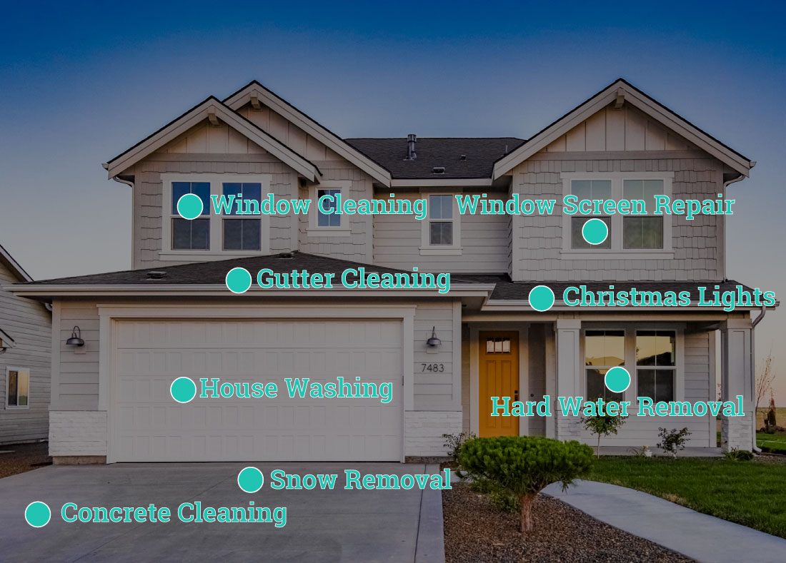 Our Glass Cleaner of Boise house showing different service offerings