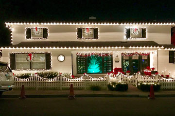 Our Glass Cleaner Boise Idaho house with professional Christmas lights installed